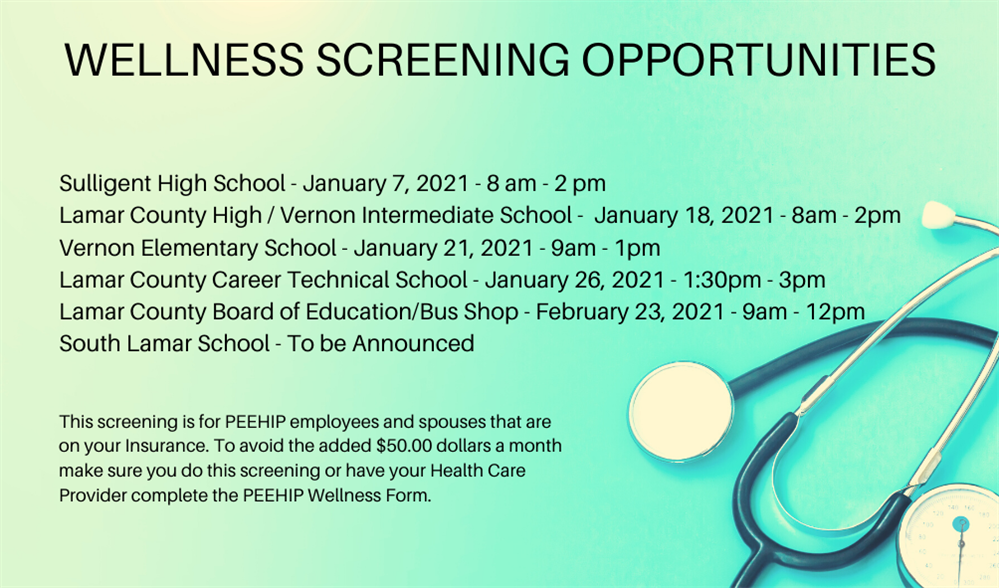 Wellness Screening Opportunities
